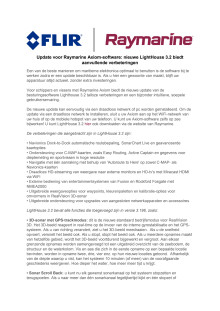 Raymarine: Update voor Raymarine Axiom-software: nieuwe LightHouse 3.2 biedt aanvullende verbeteringen