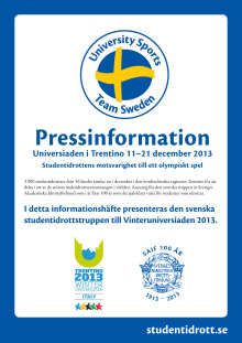 Pressinfo Vinteruniversiaden 2013