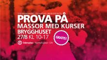 Prova på massor av kurser i Brygghuset 27 augusti