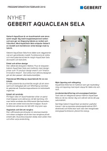 Pressinformation om AquaClean Sela