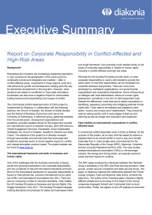 Executive summary_Corporate Responsibility in Conflict-Affected and High-Risk Areas
