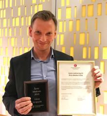 Jonas Bergqvist är Årets medlem 2018 i Kroppsterapeuternas Yrkesförbund