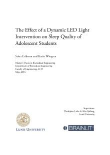 En studie om effekten av dynamiskt LED-ljus på sömnkvalitet hos skolungdomar i Malmö