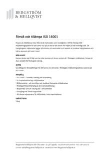 Förstå och tillämpa ISO 14001