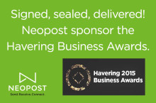 Signed, sealed, delivered! Neopost sponsor the Business Awards