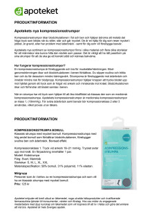 Produktinformation Apotekets kompressionsstrumpor