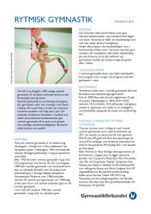 Faktablad Rytmisk Gymnastik