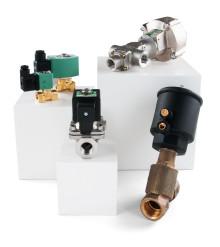 Brett utbud av magnetventiler för industriell miljö