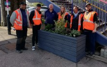 Harlington station given floral facelift