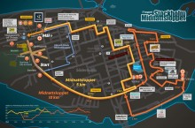Aktiviter runt Midnattsloppsbanan och besök GIH/KI på Runners Corner.