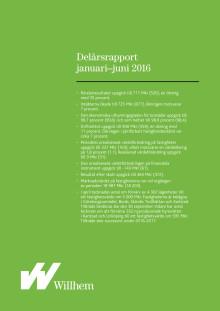 Willhems delårsrapport januari - juni 2016