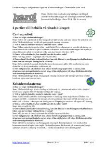 Undersökning klar: Vad vill Örebros partier med vårdnadsbidraget och alternativa omsorgsformer?