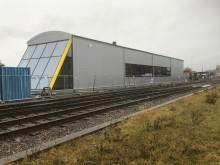 Invigning av ny tågdepå i Lidköping