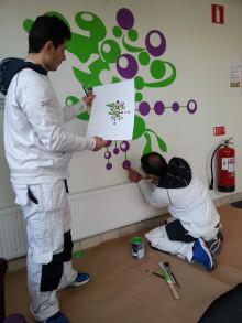 Nyanlända målare sätter färg på Helsingborg