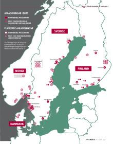 122 anläggningar för produktion av biodrivmedel i Norden