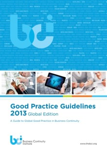 Guiding you through good Business Continuity Practice - GPG 2013 now available
