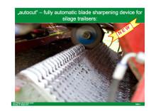 Pöttinger Autocut automatisk knivslip