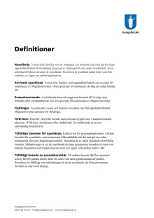 Faktablad: Definitioner