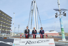 Yamaha Motor Unveils Nickname Landmark at North Exit Square of New JR Mikuriya Station