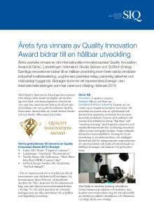 Quality Innovation Award vinnare 2018