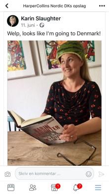 Nyt fra Karin Slaughter, en vandmelonshat og et forfatterbesøg