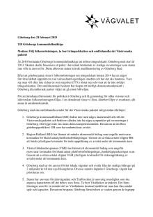 Motion - Följ folkomröstningen, ta bort trängselskatten och omförhandla det Västsvenska paketet