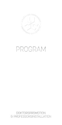 Programskrift för akademiska högtiden