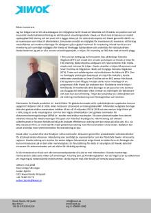 Kiwok investerarbrev maj 2018