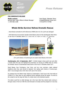 ACR Electronics - Whale-Strike Survivor Relives Dramatic Rescue (Stand J227)