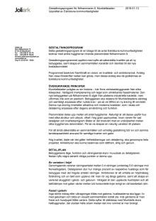 Nithammaren, gestaltningsprogrammet
