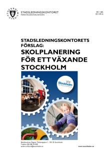 Skolplanering för ett växande Stockholm