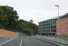Ny väg för trafik till Akademiska öppnad