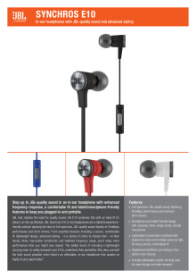 Produktspecifikation JBL E10