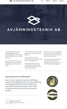 Avjämningsteknik AB skaffar ny hemsida