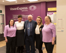 Charity ambassador joins Vision Express to officially open optical store at Tesco in Talbot Green