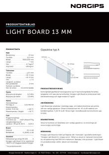 Produktdatablad Norgips Light Board