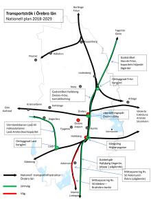 Transportstråk i Örebro län Nationell plan 2018-2029