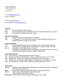 CV Tania Goryushina