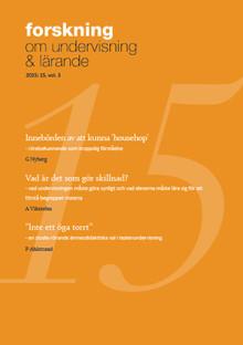 Forskning om undervisning och lärande nr 15