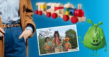 Modevisning med återbrukade kläder från Stadsmissionen och Myrorna på Stadsfesten