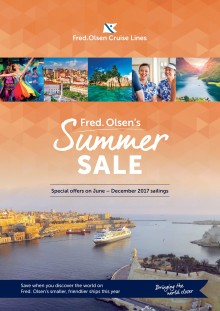 'Sail and save' with Fred. Olsen Cruise Lines' new 'Summer Sale' offers for 2017