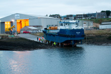 Scotland's only council-owned dredger made its inaugural journey from shipyard to sea today.