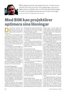 Med BIM kan projektörer optimera sina lösningar