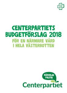 Centerpartiet budgetförslag för 2018