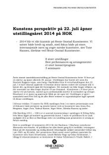Utstillings- og konsertprogram, Henie Onstad Kunstsenter 2014