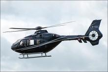 Helikopter over trikkenettet i Oslo