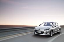 Peugeot 308 med ny sportig look och bränslesnåla motorer