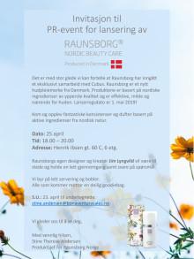 Påmeldingfrist 23.04! PR-event for lansering av Raunsborg