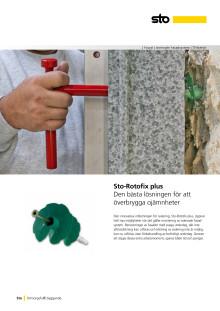 Infästning för fasadsystem: Sto-Rotofix plus