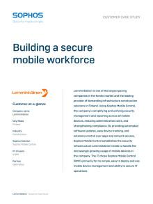 Kundcase: Lemminkäinen bygger en säker lösning för mobila arbetsplatser